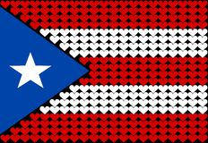 Puerto Rico flag heart Stock Image
