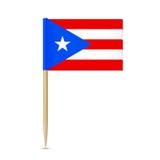 Puerto Rico. Flag toothpick on white background 10eps Stock Photos