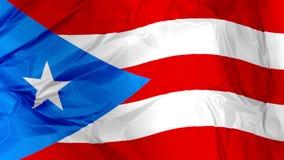 Puerto Rico flag waving stock video footage