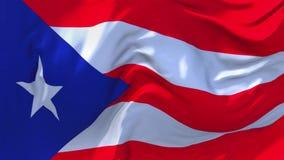 99 Puerto Rico Flag Waving en fondo inconsútil continuo del lazo del viento ilustración del vector