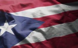 Puerto Rico flaga Miętoszący zakończenie W górę zdjęcie royalty free