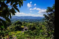 Puerto Rico från San Lorenzo, PR Arkivbild
