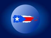 Puerto Rico globe Royalty Free Stock Photo