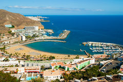 Puerto Rico, Gran Canaria. The picturesque Puerto Rico in Gran Canaria, Spain royalty free stock images