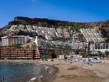 Puerto Rico Holiday Resort Gran canaria Espagne photographie stock libre de droits