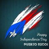 Puerto Rico Independence Day Patriotic Design Fotografia Stock Libera da Diritti
