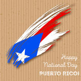 Puerto Rico Independence Day Patriotic Design Fotografie Stock