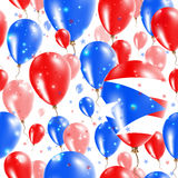 Puerto Rico Independence Day Seamless Pattern Fotografia Stock Libera da Diritti