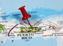 Puerto Rico in Karibischen Meeren Lizenzfreie Stockfotos