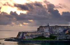 Puerto Rico Lighthouse. Lighthouse and fort near San Juan Puerto Rico Stock Photos