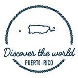 Puerto Rico Map Outline Le vintage découvrent Photographie stock