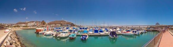 Puerto Rico marina panoramic view royalty free stock photo