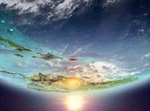 Puerto Rico mit Sonne Lizenzfreies Stockfoto