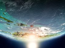 Puerto Rico mit Sonne auf Planet Erde Lizenzfreie Stockbilder