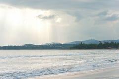 Puerto Rico Mountains och strand Arkivfoton