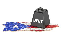 Puerto Rico national debt or budget deficit, financial crisis co. Ncept Royalty Free Stock Image