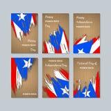Puerto Rico Patriotic Cards para o dia nacional ilustração royalty free