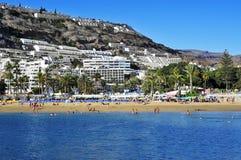 Puerto Rico plaża w Granie Canaria, Hiszpania Fotografia Royalty Free