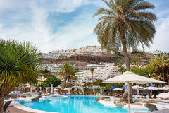 Puerto Rico`s resort. Gran Canaria Stock Photos