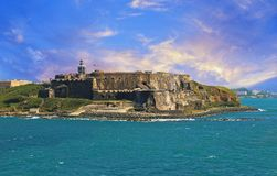San Juan streets on a bright sunny day. Puerto Rico, San Juan streets on a bright sunny royalty free stock images