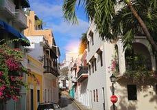 San Juan streets on a bright sunny day. Puerto Rico, San Juan streets on a bright sunny stock photos