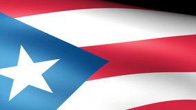 Puerto Rico State Flag Waving. Video footage stock video