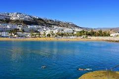 Puerto Rico strand i Gran Canaria, Spanien Royaltyfria Foton