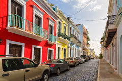 Puerto Rico streetview royalty-vrije stock foto's