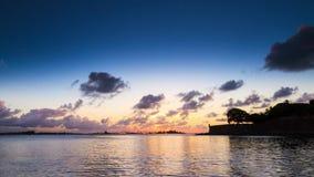 Puerto Rico Sunset fjärdtimelapse arkivfilmer
