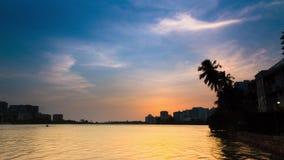 Puerto Rico Sunset Lagoon timelapse stock video