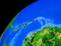Puerto Rico ter wereld van ruimte stock foto