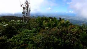 Puerto Rico tropikalnego lasu deszczowego krajobraz zbiory wideo