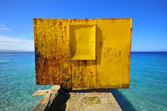 Puerto Rico trzaska łodzi plaża Zdjęcia Royalty Free