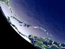 Puerto Rico van ruimte ter wereld royalty-vrije stock fotografie