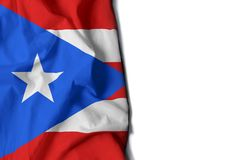 Puerto rico wrinkled flag, space for text Royalty Free Stock Image