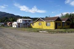 Puerto Rio Tranquilo, Patagonia, Chili Images libres de droits