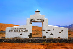 Puerto Rosario monument sign Fuerteventura Royalty Free Stock Images
