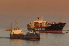 PUERTO SAÍD /EGYPT 2 de enero de 2007 - la nave Yang Ming de Conainer Fotografía de archivo