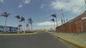 Puerto Salvador Allende är ett av de mest underhållningställena av staden av Managua på Nicaragua stock video