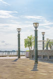 Puerto Santa Ana Boardwalk in Guayaquil Ecuador Royalty Free Stock Photos