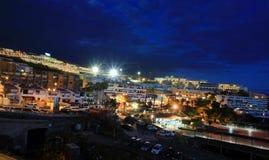 Puerto Santiago en la noche Fotografía de archivo libre de regalías