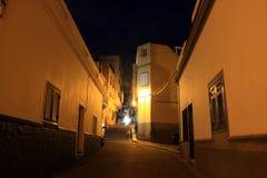 Puerto Santiago en la noche Foto de archivo