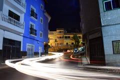Puerto Santiago en la noche Imagen de archivo