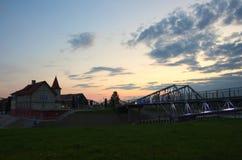 Puerto Shulz en Grudziadz Foto de archivo libre de regalías