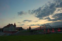 Puerto Shulz en Grudziadz Imágenes de archivo libres de regalías