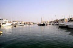 Puerto soberano, Eastbourne, Reino Unido fotos de archivo libres de regalías