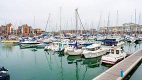 Puerto soberano en Eastbourne, Sussex del este, Reino Unido foto de archivo libre de regalías