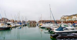 Puerto soberano en Eastbourne, Sussex del este, Reino Unido imagen de archivo libre de regalías