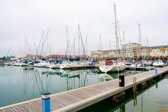 Puerto soberano en Eastbourne, Sussex del este, Reino Unido foto de archivo