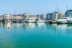 Puerto soberano en Eastbourne, Sussex del este, Reino Unido fotografía de archivo libre de regalías